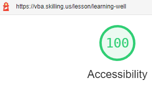 Lighthouse accessibility score