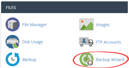 Backup wizard icon