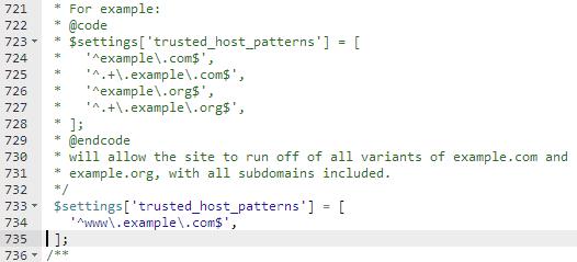 Code being edited