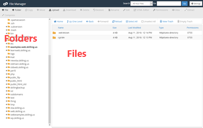 File manager parts