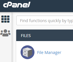 Starting cPanel's file manager