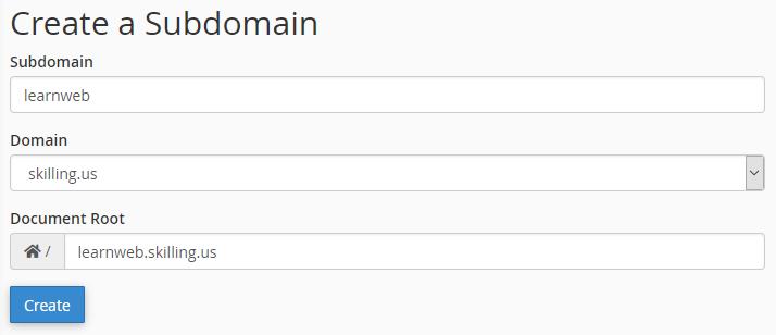 Subdomain file root