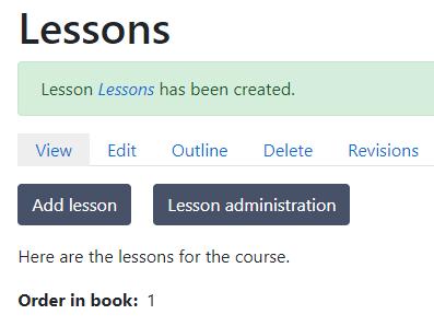 Lesson created