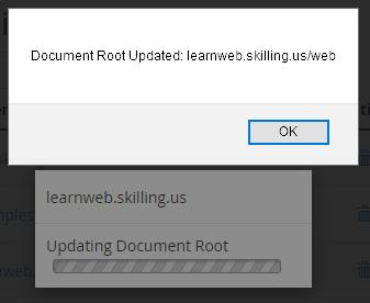 Modify subdomain root 3