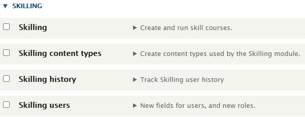Skilling modules