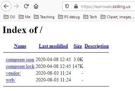 Subdomain pointing at wrong server folder