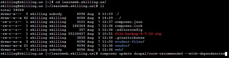 Updating core